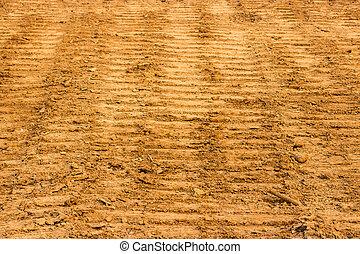industrial tractor footprint on