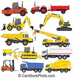 Industrial Transportation - vector illustration of...
