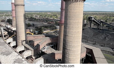 industrial up view