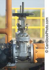 industrial, válvula, para, líquidos