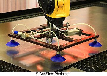 Industrial vacuum sucker - Manipulator for moving the sheet...