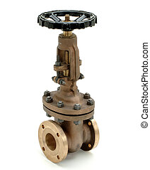 valve - industrial valve for fluid's pipelines, isolated on...