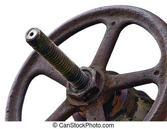 Industrial Valve Wheel And Stem Weathered Grunge Latch ...