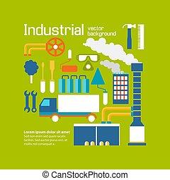 Industrial Vector  Background Design Decorative Concept