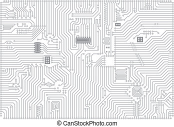 industrial, vector, electrónico, hola-hi-tech, plano de...