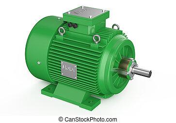 industrial, verde, motor elétrico