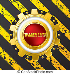 Industrial warning button design