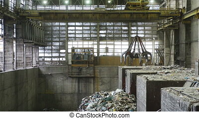 Industrial waste dump