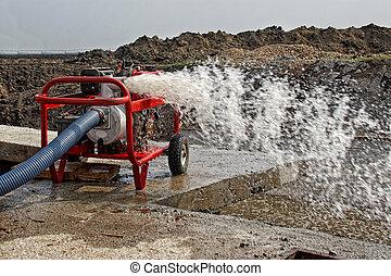 Industrial Water Pump - Mobile Industrial Water Pump while...
