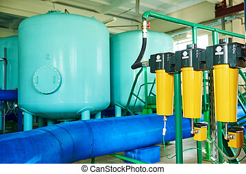 industrial water purification system or filtration equipment
