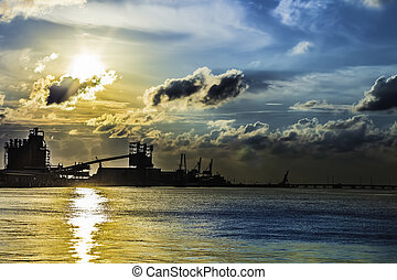 Industrial Water Sunset