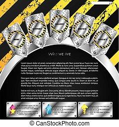 Industrial web template design