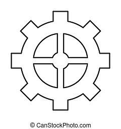 industrial wheel cog gear symbol
