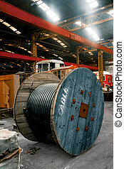 Industrial wire in the factory