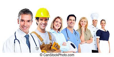 industrial, workers.