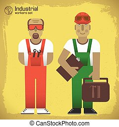 Industrial Workers Concept