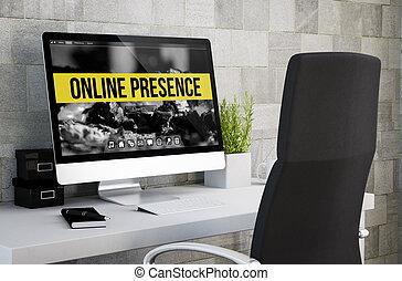 industrial workspace online presence - 3d rendering of ...