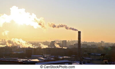 Industrial zone. Ekaterinburg, Russia