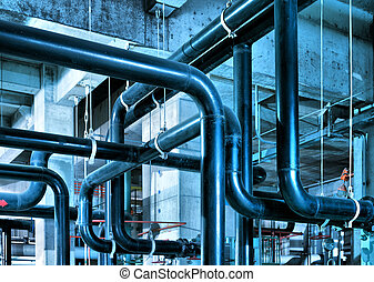 Industrial Zone pipeline - Equipment, cables and piping as...
