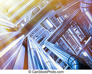 Industrial zone, Steel pipelines and cables