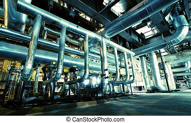 Industrial zone, Steel pipelines and equipment - Industrial...