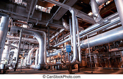 Industrial zone, Steel pipelines and pumps