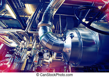 Industrial zone, Steel pipelines and valves - Equipment,...