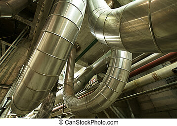 Industrial zone, Steel pipelines