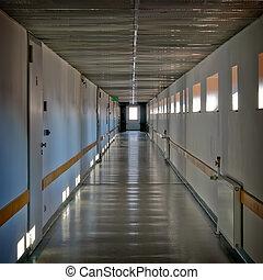 industriale, building's, corridoio