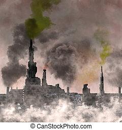 industriale, città, futuro