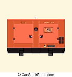 industriale, diesel, generatore