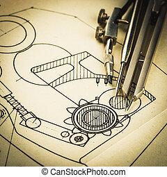 industriale, disegno