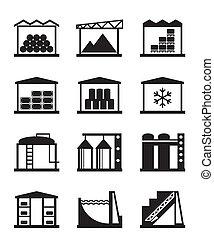 industriale, e, commerciale, magazzino