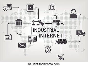 industriale, (iiot), concetto, internet