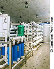 industriale, installazione, congegni, membrana