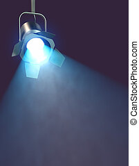 industriale, luce, macchia, interpretazione, riflettore, 3d