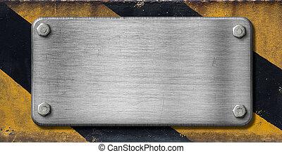 industriale, metallo, fondo, piastra