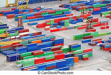 industriale, porto, contenitori