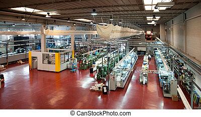 industriale, printshop:, flexo, premere, stampa