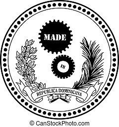 industriale, simbolo, fatto, in, repubblica domenicana