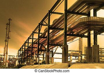 industriale, tubo, linea