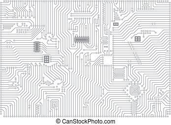 industriale, vettore, elettronico, ciao-tecnologia, fondo