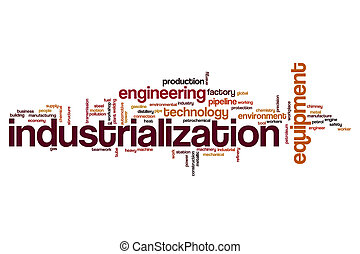 Industrialization word cloud concept