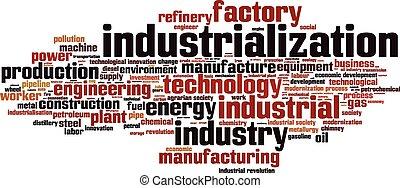 industrializzazione, parola, nuvola