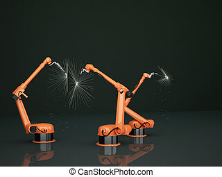 industrie, arme, robotic