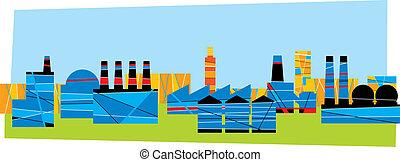 industrie, bâtiments