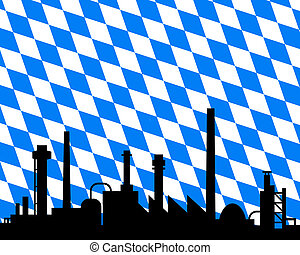 industrie, bavière, drapeau