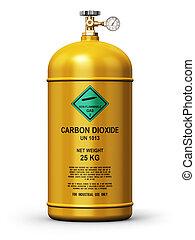 industrie, behälter, gas, verflüssigt, dioxyd, kohlenstoff