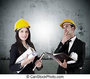 Industrie, bouwsector, architecten