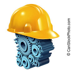 industrie, bouwsector, werkende